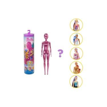 Imagem de Barbie Color Reveal Estilo Brilhante Mattel 7 Surpresas