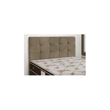 598508768c Cabeceira Para Cama Box Casal Clean 1400mm - Suede Marrom Taupe - Simbal  Celta moveis