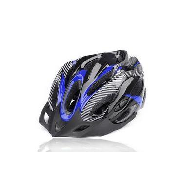 Capacete Para Ciclismo Bike Adulto Com Alça ajustável - Azul