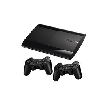 Playstation 3 Super Slim 2 controles + 4 Jogos