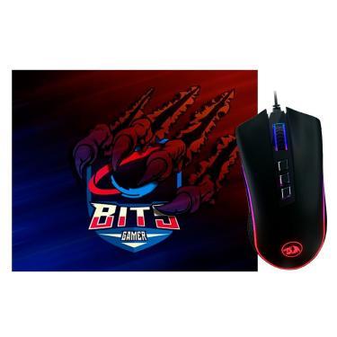 Imagem de Kit Gamer Redragon - Mouse King Cobra Chroma + Mouse Pad Bits Raptor Grande