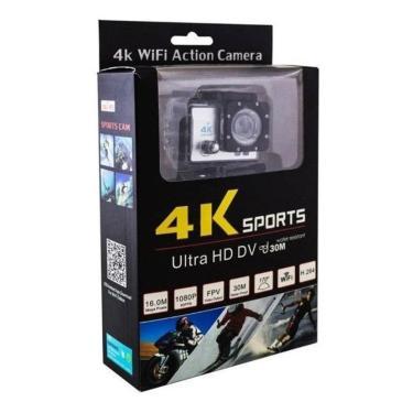 Imagem de Câmera De Ação 4K Ultra Hd Sports Wi-Fi Resistente Água 30M