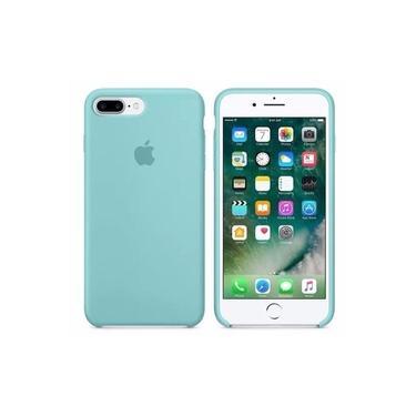 Capa Capinha Case em silicone para iPhone 7/8 Plus Verde Tiffany