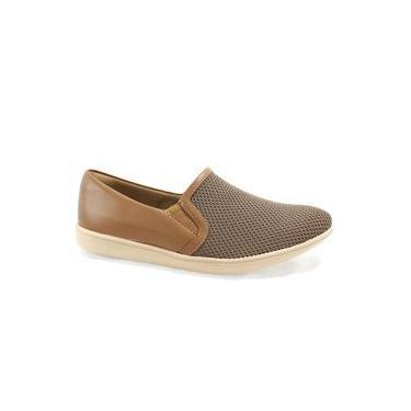 Sapato Feminino Colmeia Usaflex Marrom