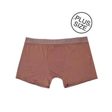 Imagem de Cueca Boxer Plus Size Microfibra Lisa - Cuemf006-marrom-3g