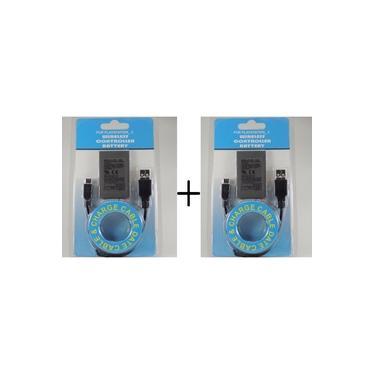 Kit 2 Bateria Controle Playstation Ps3 Dualshock 1800mah