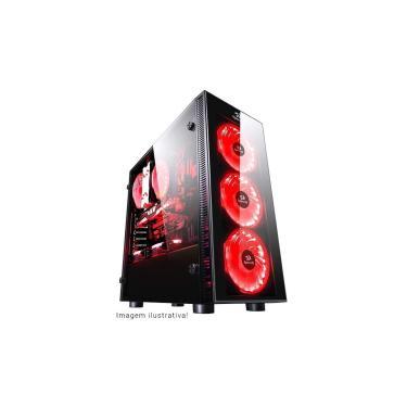 Gabinete Gamer Redragon Sideswipe - Coolers RGB - Janela Lateral em Vidro Temperado - Mid Tower - GC