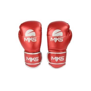 Luva de Boxe MKS Energy Vermelho/Metálico