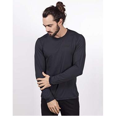 Imagem de Camisa UV Masculina com Proteção Solar Manga Longa Fresh (EG, Preto)