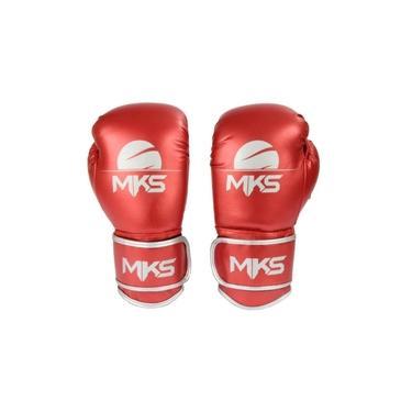 Luva Boxe Energy Vermelho Metalizada 12 Oz Mks Combat
