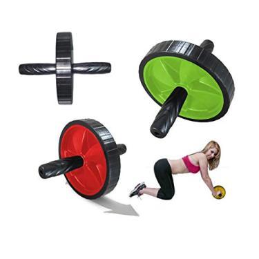 Rolo Roda Exercícios Abdominal Lombar Exercise Wheel + Apoio