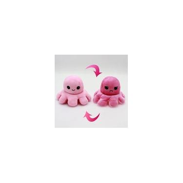 Imagem de Polvo Pelúcia Reversível Rosa E Pink Boneco Humor Tik Tok