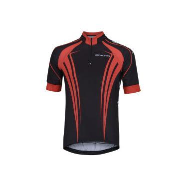 78fa66e65 Camisa de Ciclismo com Proteção Solar UV Refactor Logan - Masculina - PRETO/VERMELHO  Refactor