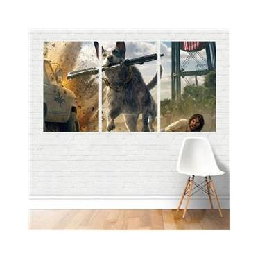 Quadro Game/Geek Jogo Far Cry 4 Ubisoft Game 125X65 Canvas