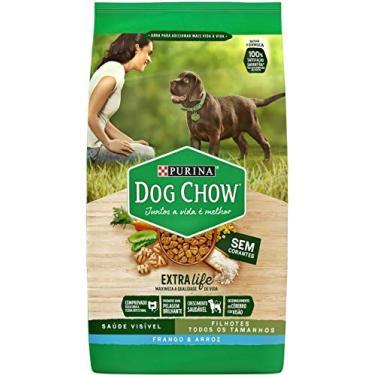 Nestlé Purina Dog Chow Ração Seca para Cães Filhotes Frango e Arroz 15kg Dog Chow Para Akita Filhotes,