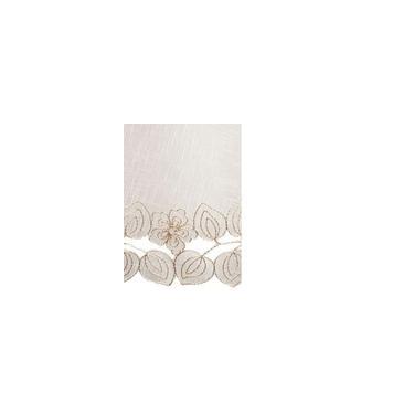 Imagem de Toalha de Mesa Retangular Organza e Bordado Mehndi Off White 1,70x270m