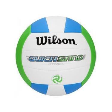b61aca9e28 Bola De Vôlei Quicksand Azul Verde Wilson