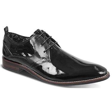 Sapato Social Ferracini Caravaggio Verniz Preto 44