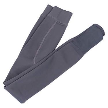 Imagem de Valicclud calça legging feminina opaca com forro de meia-calça e calça térmica grossa, Cinza, 94.5×24.5cm
