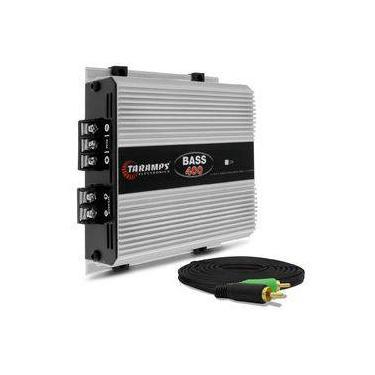 Módulo Amplificador Taramps Bass 400 Class D 400w Rms + Cabo Rca Tech One Duplo 4mm 5m