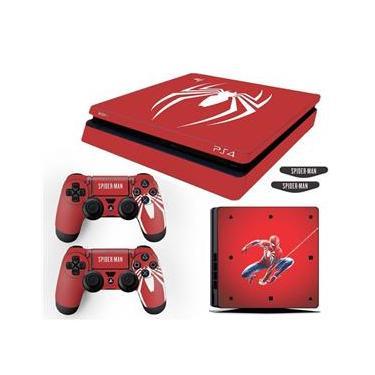 Adesivo Skin PS4 Slim Spider Man Edição Limitada