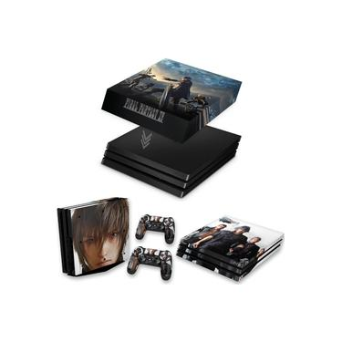 Capa Anti Poeira e Skin para PS4 Pro - Final Fantasy Xv #B