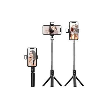 Tripé Pau De Selfie Com Led Controle Celular Foto E Filmagem