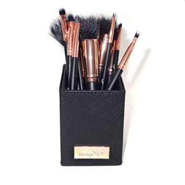 Kit Pincel para Maquiagem - 12 Pincéis (Preto e Rose metalizado)