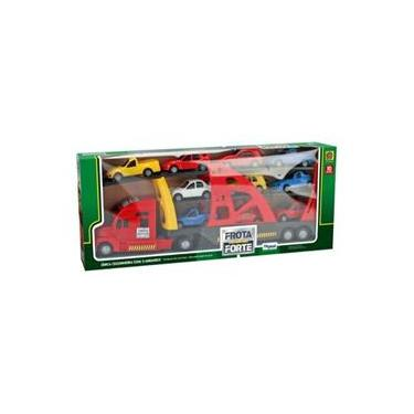 Imagem de Mini Caminhão Infantil Cegonheira Frota Forte - Home Play