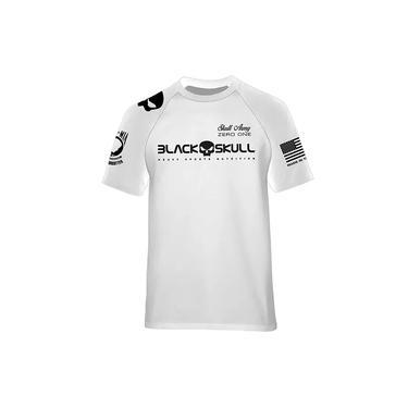 Camiseta Dry Fit - Black Skull (padrão - Branco M)