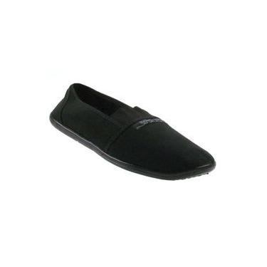 Sapatilha Moleca Slipper Leve Confortável Flexível Preto