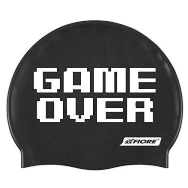 Touca de Silicone para Natação Game Over