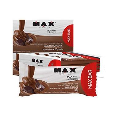 BARRA DE PROTEINA MAX BAR (12UNIDADES) 33G - MAX TITANIUM - Coco