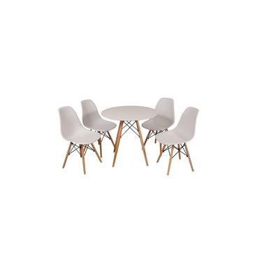Imagem de Kit Mesa Jantar Eames Eiffel 90cm + 4 Cadeiras Eames Eiffel - Branca