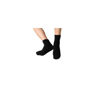 Chinelo de lã masculina grossa quente coral meias antiderrapantes toalha de chão