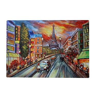 Imagem de Top Carpenter Quebra-cabeças de madeira 300/500/1000 peças linda pintura da cidade da Torre Eiffel jogos educativos de quebra-cabeça intelectual para adultos e crianças