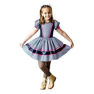 Imagem de Vestido Festa Junina Caipira Infantil Luxo (G-10 a 12 Anos)