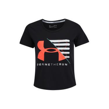 eb8df74d62 Camiseta Under Armour Run Vanguard Boxy - Feminina - PRETO Under Armour