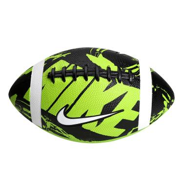 Bola Nike Futebol Americano Spin 3.0 - verde preto branco f67f3d2f5b83d