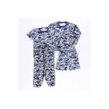 Kit Pijama Camuflado Azul - Pepila