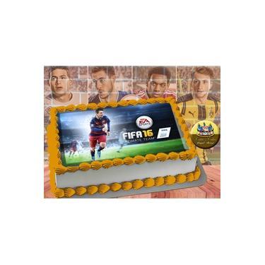 PS4 XBOX GAME - Papel De Arroz Comestível Para Bolo FIFA 16 E 18 A4 20x30cm Mod.02