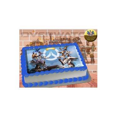 PS4 XBOX GAME - Papel De Arroz Comestível Para Bolo OverWatch A4 20x30cm Mod.06