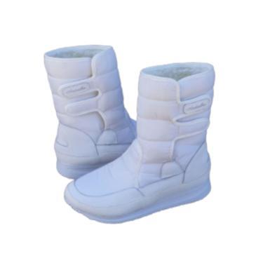 Bota Andarilha Neve E Frio Forrada Em Pelo Branco  feminino