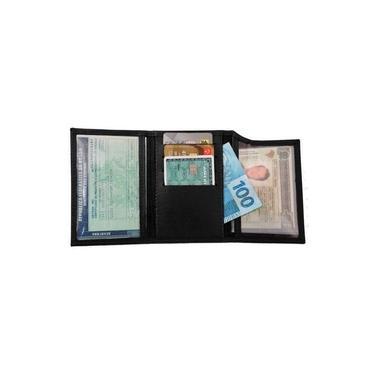 Carteira de Bolso em Couro Legítimo Slim - Fina e Macia - Masculina e Feminina - Porta CNH e CRLV Documento de Veículo - Carro e Moto - Porta Cartões Dinheiro Notas - TN-MC01