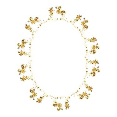 NUOBESTY Guirlanda de Natal Bola para pendurar na parede, guirlanda de corrente, árvore de Natal, ornamentos pendurados, enfeite de festa de Natal, lareira (dourado)