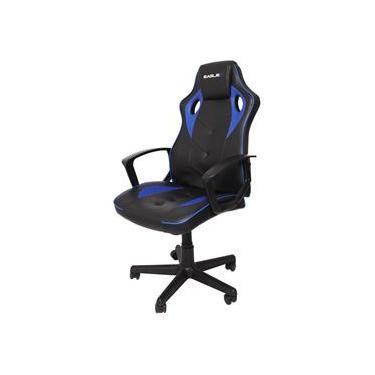 Cadeira Gamer Azul EagleX S1 Com Ajuste de Altura Modo Balanço e Reclinavel