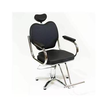 Poltrona Cadeira Hidraulica Agata Fixa Moveis Para Salão - Cabeleireiro