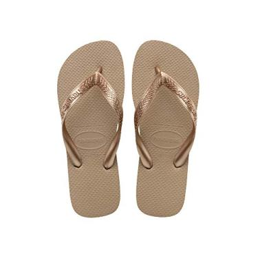 Chinelo Top, Havaianas, Adulto Unissex, Rose Gold, 39/40