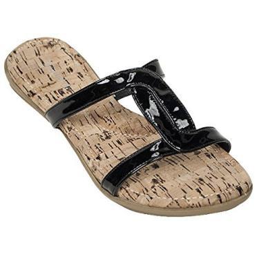 Tidewater sandália feminina com capuz e estampa de bacalhau, Preto, 11