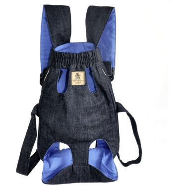 Bolsa Canguru Bichinho Chic Azul - Tam. G